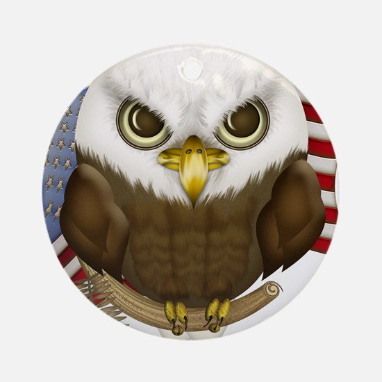 Cute Bald Eagle Ornament (Round)