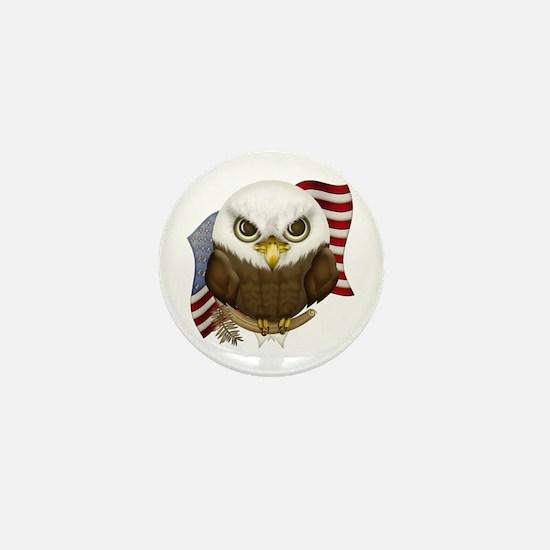 Cute Bald Eagle Mini Button