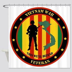 Vietnam War Veteran - This Well Defend Patch Showe