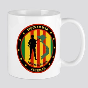 Vietnam War Veteran - This Well Defend Patch Mug