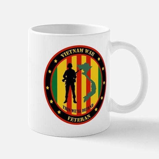Vietnam War Veteran - This Well Defend Patch Mug