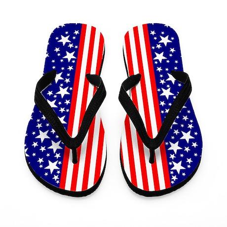 Fourth of July Flip Flops