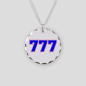 777 GOD Necklace Circle Charm