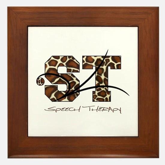 ST Camo Giraffe Framed Tile