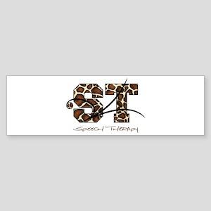 ST Camo Giraffe Sticker (Bumper)