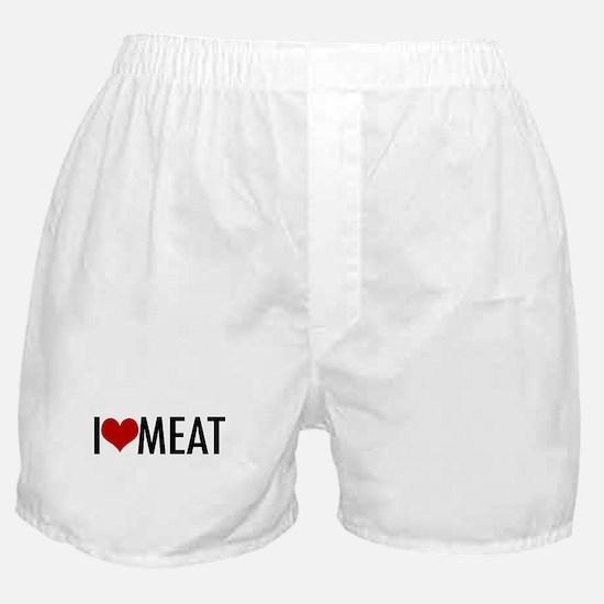 I Heart Meat Boxer Shorts