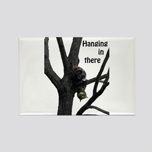 Hanging in There Cat Rectangle Magnet