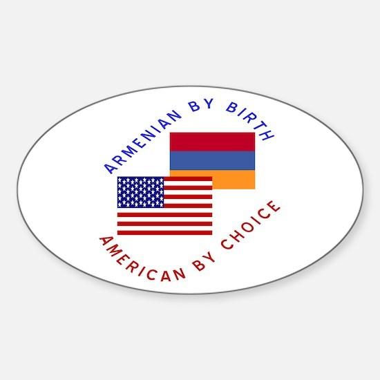 Armenia Birth USA Choice Oval Decal