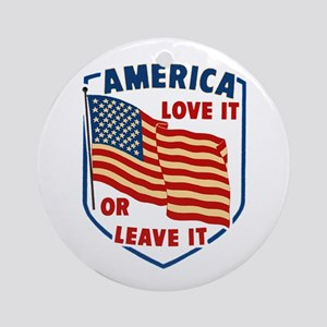 America Love it Ornament (Round)