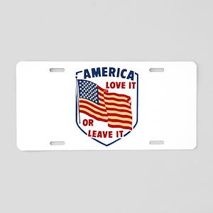 America Love it Aluminum License Plate