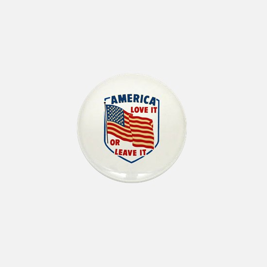America Love it Mini Button