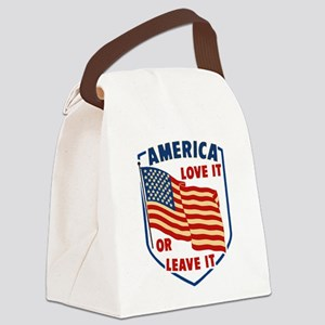 America Love it Canvas Lunch Bag
