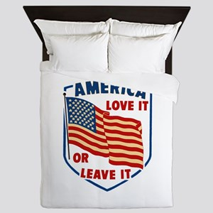 America Love it Queen Duvet