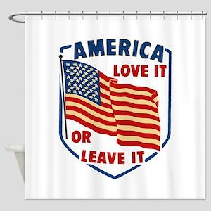 America Love it Shower Curtain