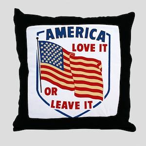 America Love it Throw Pillow