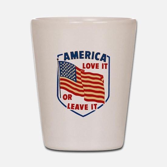 America Love it Shot Glass