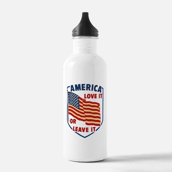 America Love it Water Bottle
