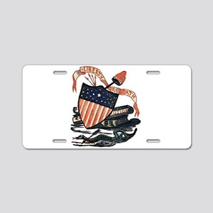 Vintage American Shield Aluminum License Plate