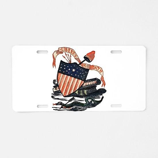 Vintage American Shield Aluminum License Plate