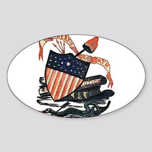 Vintage American Shield Sticker (Oval)