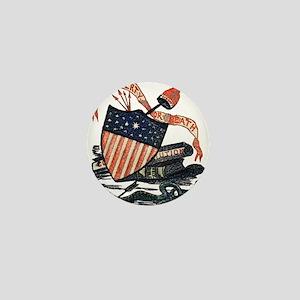 Vintage American Shield Mini Button