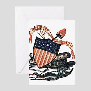 Vintage American Shield Greeting Card