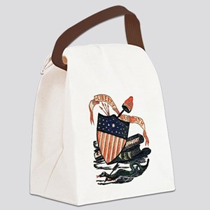 Vintage American Shield Canvas Lunch Bag