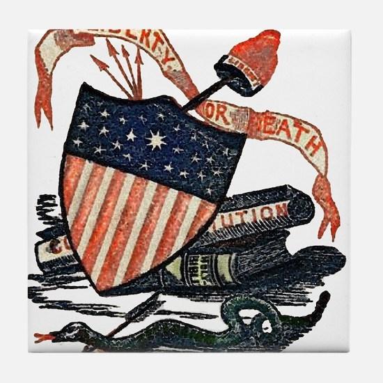 Vintage American Shield Tile Coaster