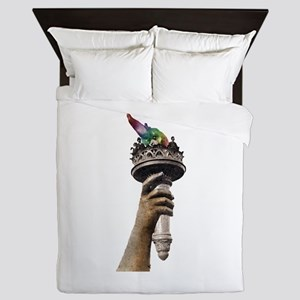 hand_and_torch Queen Duvet