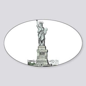 Statue of Liberty Sticker (Oval)