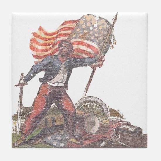 Civil War Patriot Tile Coaster