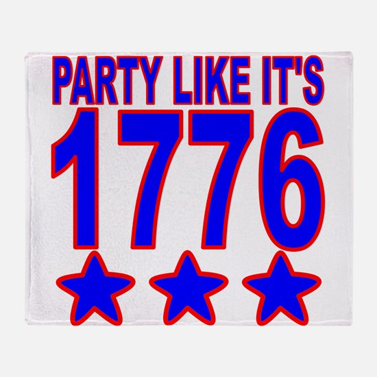 Party Like Its 1776 Throw Blanket