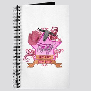 CowGirl Double Edit Text Pink 4 Leather Brown Redi