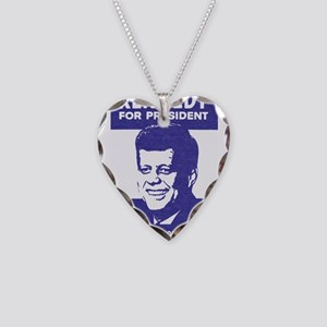 Kennedy Campaign Necklace Heart Charm