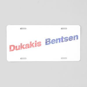 Dukakis-Bentson Aluminum License Plate