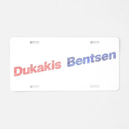 Dukakis-Bentson.png Aluminum License Plate