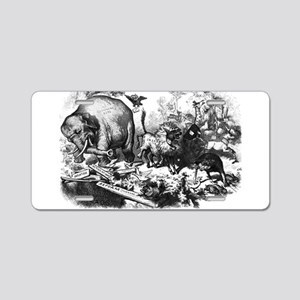 NastRepublicanElephant Aluminum License Plate