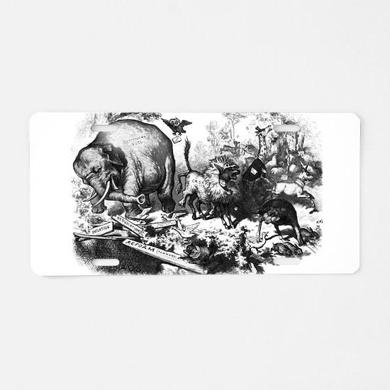 NastRepublicanElephant.png Aluminum License Plate