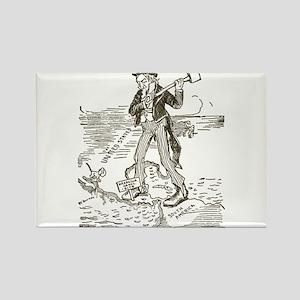 1895NicaraguaCanalCartoon Rectangle Magnet