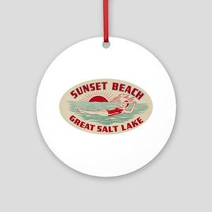 Sunset Beach Salt Lake Ornament (Round)