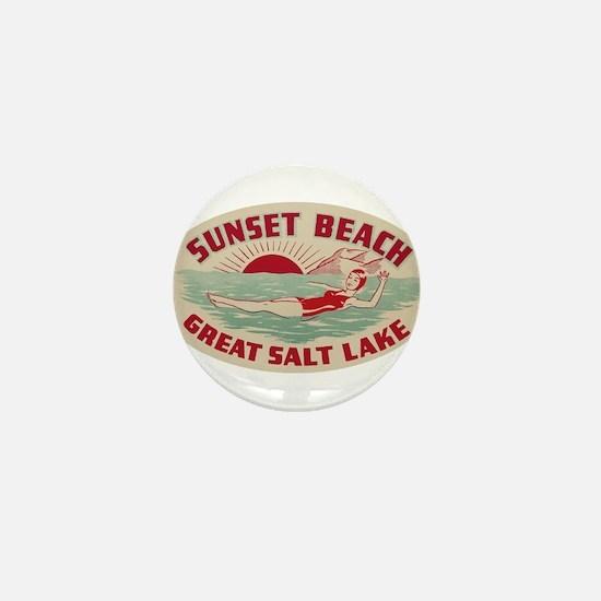 Sunset Beach Salt Lake Mini Button