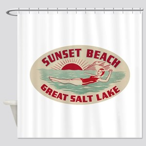 Sunset Beach Salt Lake Shower Curtain