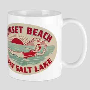 Sunset Beach Salt Lake Mug