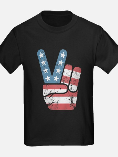 Peace Sign USA Vintage T