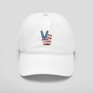 Peace Sign USA Vintage Cap