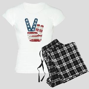 Peace Sign USA Vintage Women's Light Pajamas
