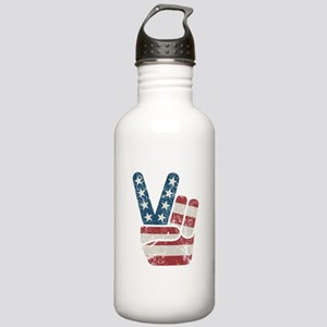 Peace Sign USA Vintage Stainless Water Bottle 1.0L