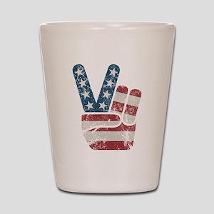 Peace Sign USA Vintage Shot Glass