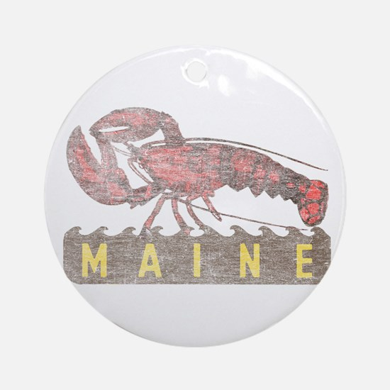 Vintage Maine Lobster Ornament (Round)