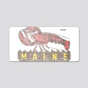 Vintage Maine Lobster Aluminum License Plate
